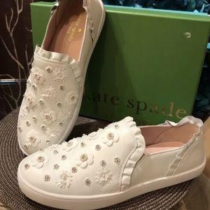 Kate Spade Louise Beaded Ruffle Slip-on Sneaker8.5